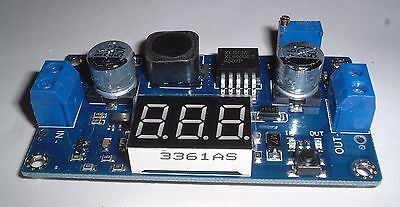 Step up (boost Adjustable Power Supply Module with display 1.5V-35V out UK Stock