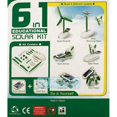 OWI 6-In-1 Build Your Own Solar Robot Kit DIY Science Toy