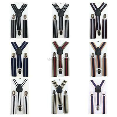 Hot Baby Boy Girls Clip-on Stripes Suspender Y-Back Child Elastic Suspenders W53