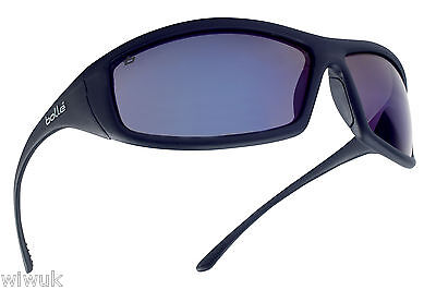 Bolle SOLIS FLASH Blue Tinted anti scratch safety glasses - FREE storage pouch