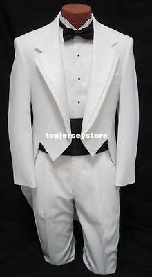 White Men's Tailcoats Wedding Suits Groom Tuxedos Best Man Suits Business Blazer
