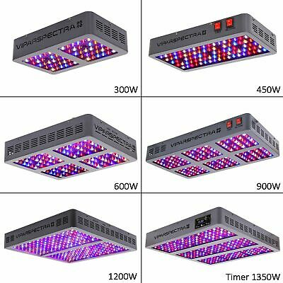 VIPARSPECTRA 300W 450W 600W 900W LED Grow Light Full Spectrum for Veg Bloom