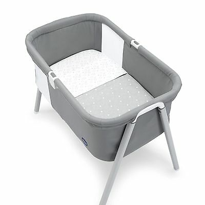 Chicco White & Grey Next To Me / Lullago Crib 2 Piece Baby Sheet Set From Birth