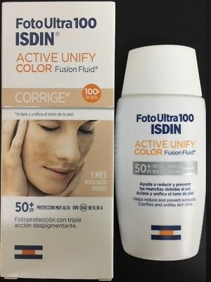 FOTO ULTRA  ISDIN ULTRA FUSION FLUID TINTED COLOR spf 100+ 50 ml ACTIVE UNIFY
