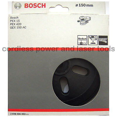 Bosch MEDIUM Backing Sanding Pad Rubber Base Plate for GEX 150 AC 2608601052
