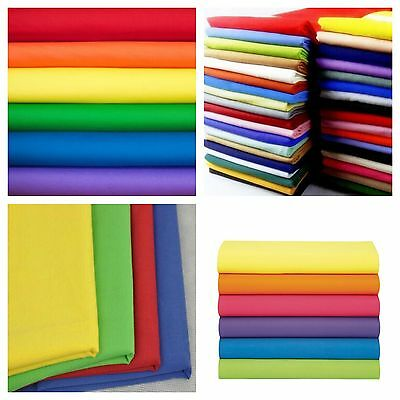 "Broadcloth Fabric 45"" Cotton Polyester Blend - Sold By The Yard  Many Colors"