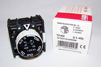 NEW ABB TP401 Timer Block .1-40sec.For B9-75 Relays