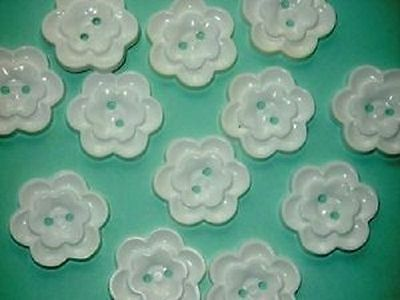 """Realistic FLOWER Set 12 TIERED new Buttons Large 1 & 1/8"""""""