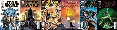 MARVEL 2015 STAR WARS #1 2 3 4 5 6 COMPLETE 1ST PRINT SET! Cassaday! Aaron! HOT!