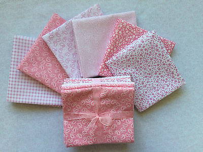 Pink Fat Quarter bundle Cotton Craft Co. Sewing, Quilting, Patchwork