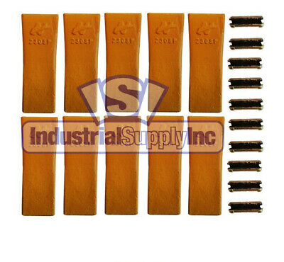 10-pk  Case 230SP Backhoe Style Bucket Digging Chisel Teeth
