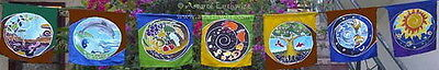 NATURE IN BALANCE PRAYER FLAG - 7 FLAP 1778mm Wicca Pagan Witch NewAge Goth Yoga