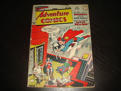 ADVENTURE COMICS #127 Golden Age Superboy  DC Comics 1948  VG+
