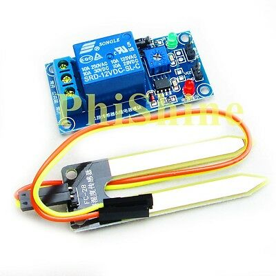 12V Soil Humidity Sensor Relay Soil Moisture Control Sensor Auto Watering for Ar