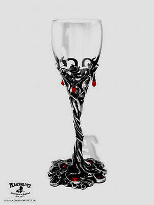 Alchemy Gothic 'DRACULA'S CUP' Thorns Blood red Crystals Stunning Piece
