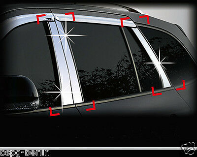 Accessories For Ssang Yong Rexton I/ii/w Chrome Panels B/с Column Tuning Trim