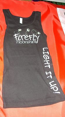 """Firefly Moonshine - """"light It Up"""" - Ladies Promo Tank Top T-Shirt Small *new*"""
