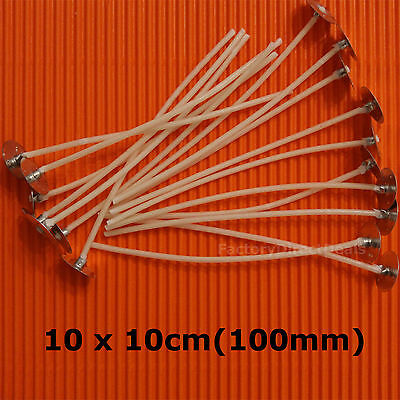 10 x 10cm/100 mm /4inch  Pre Waxed Wicks with Tabs For Candle Making Top Quality