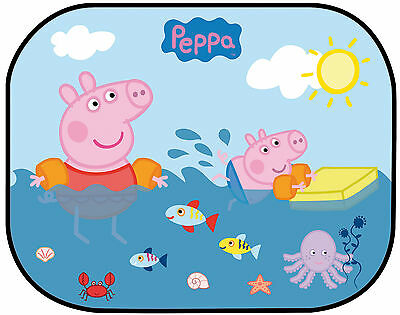 Twin Peppa Pig  Kids Baby Children Car Window Color Sun Shades UV Protection 012