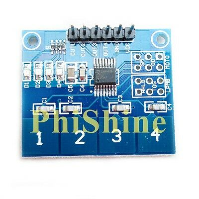 TTP224 4 Channel Digital Touch Sensor Module Capacitive Touch Button Switch