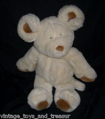 "13"" Vintage 1992 Commonwealth Creme Brown Mouse Mice Stuffed Animal Plush Toy"