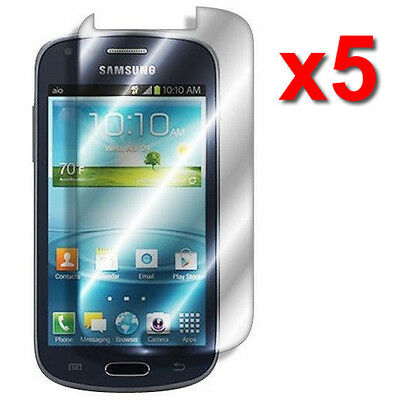 5X Crystal Clear Screen Protector Film Guard For Samsung Galaxy Amp I407 Phone