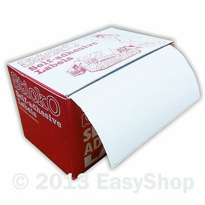 Retail Self Adhesive Sticky White Postage Address label roll 89 X 36 mm in Box