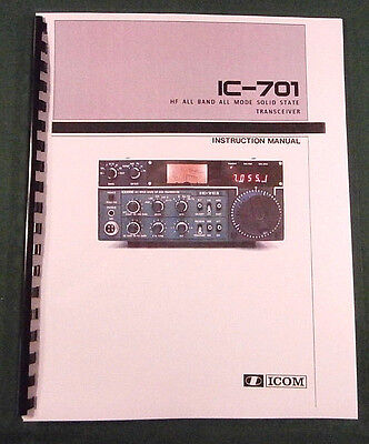 """ICOM IC-701 Instruction Manual: 11""""X17"""" Foldout schematics & Protective Covers!"""