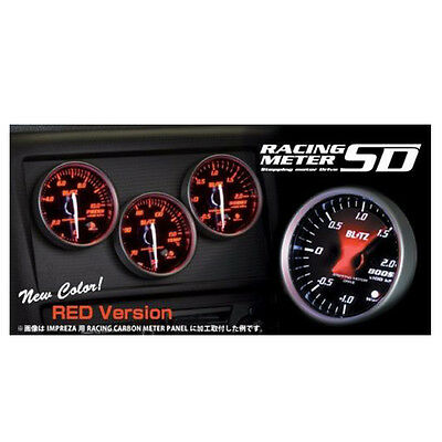 New Blitz Racing Meter Sd 52Mm Boost Meter Gauge Red 19591