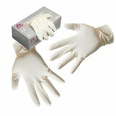 Latex Powdered Disposable Gloves 100 Pack Box XLarge Medical Garage Tattoo Salon