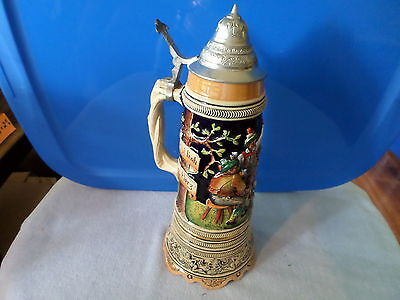 "Superstar Switzerland Ceramic Musical Beer Stein - ""roll Out The Barrel"" - Works"