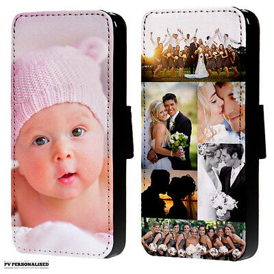 Personalised Photo Or Collage Flip Wallet Phone Case Cover For Iphone & Samsung