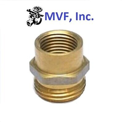 """GARDEN HOSE FITTING 3/4"""" MALE GHT x 1/2"""" FEMALE NPT PIPE BRASS ADAPTER  18A-12D"""