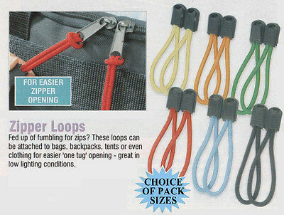 Zipper Pull Zip Aid Cord Pullers Fasteners Loops Mobility - Choose Pack Size