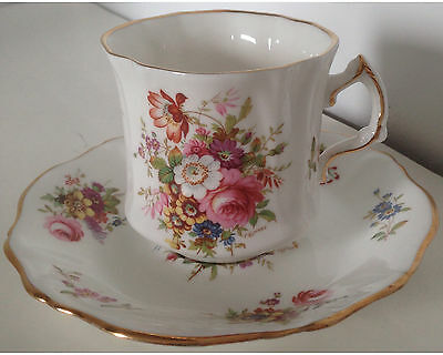 Fancy Hammersley Howard Sprays Coffee Cup and Saucer