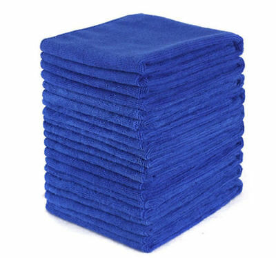 12PCS Microfiber Absorbent Towel Car Home Washing Clean Wash Cloth Blue