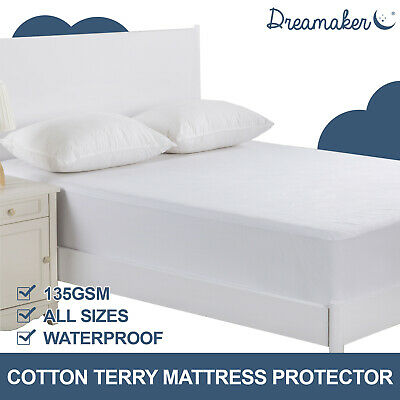 Cotton Terry Toweling Waterproof Mattress Protector Cover Cot Boori All Size