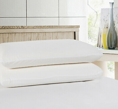 Terry Towel Waterproof Cotton Cover Pillowcase Pillow Protector - Twin Pack