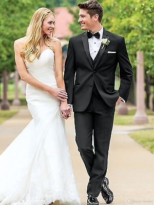 High Quality Mens Wedding Suits Groom Tuxedos Dinner Suits Business Suits Custom