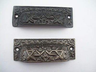 Cast Iron Antique Shell Cup Pull Cabinet Cupboard Drawer Door Draw Pull Handles