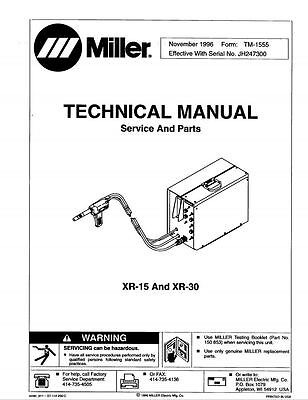 MILLER MANUAL EXTREME 360 CC//CV 208-575 AUTO-LINE LG250111A through ZZ222222