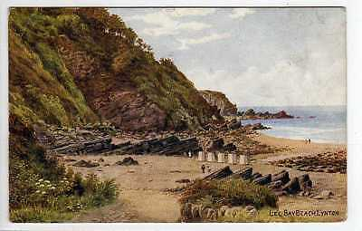 (La2273-407) QUINTON (ARQ), Lee Bay Beach,  LYNTON *3934 Used G-VG Stamp Removed