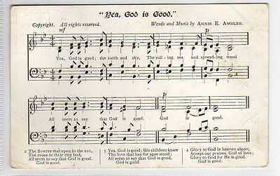 (La2471-407) Song Card, Yea, God Is Good,  Used 1905 G-VG