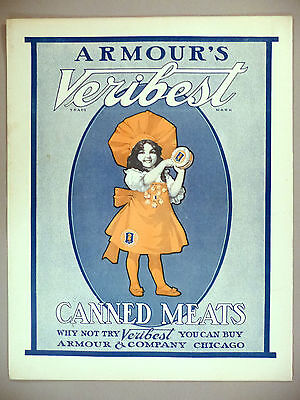 Armour Veribest Canned Meats PRINT AD - 1903