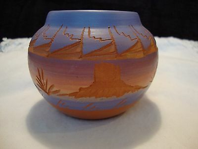 Red Earth Mesa Verde Pottery Native American Handmade Crafted Pot COA Signed