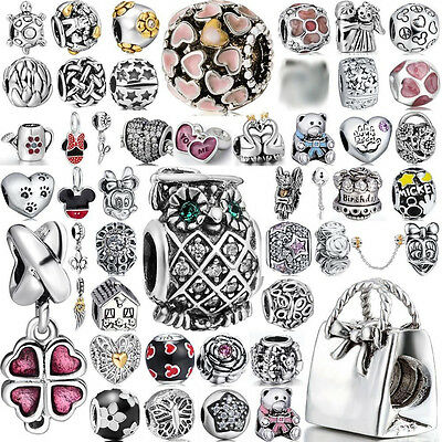 Cute  Animal Space Beads Fit European Charm 925 Sterling Silver Bracelets Chain