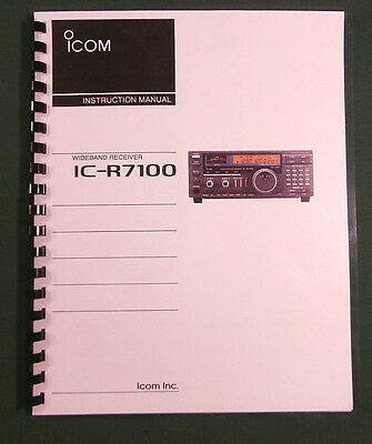 Icom IC-R7100 Instruction Manual - Premium Card Stock Covers & 28 LB Paper!
