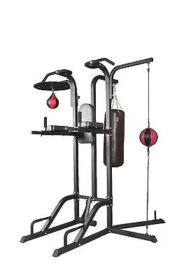 Power Boxing Station Stand Gym Speed Ball Punching Bag Station