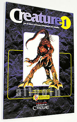 Il Richiamo di Cthulhu CREATURE 1 1995 Stratelibri #7000 Supplemento