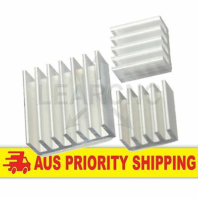 Raspberry Pi 2 3pc Aluminium Heatsink Kit Self Adhesive Heat Sink Arduino